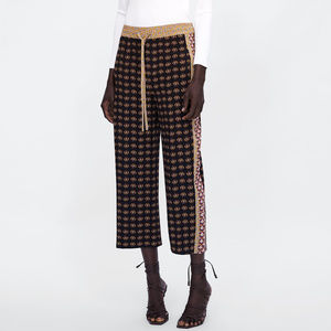 NWT Zara Size S Patchwork Print Culottes